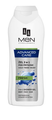AA MEN ADVANCED CARE Żel pod prysznic 3w1 FRESH