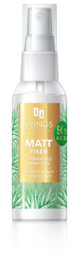 AA WINGS OF COLOR MATT FIXER MGIEŁKA MATUJĄCA ALOE VERA 50ML