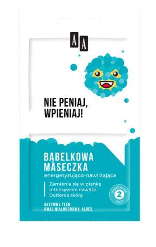 AA Emoji Bąbelkowa maseczka Energetyzująco-nawilżająca