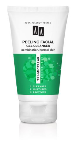 AA TRI-MICELLAR TECHNOLOGY PEELING FACIAL GEL CLEANCER