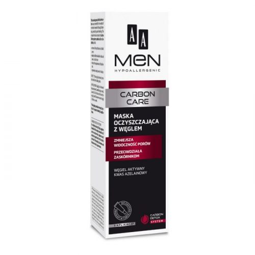 AA MEN CARBON CARE Cleansing charcoal mask