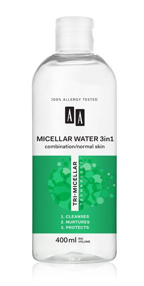AA TRI-MICELLAR TECHNOLOGY MICELLAR WATER DRY/ NORMAL SKIN
