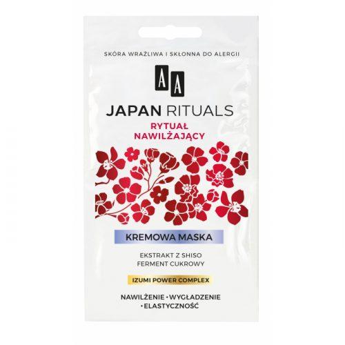 AA JAPAN RITUALS KREMOWA MASKA NAWILŻAJĄCO-WYGŁADZAJĄCA 2X4 ML