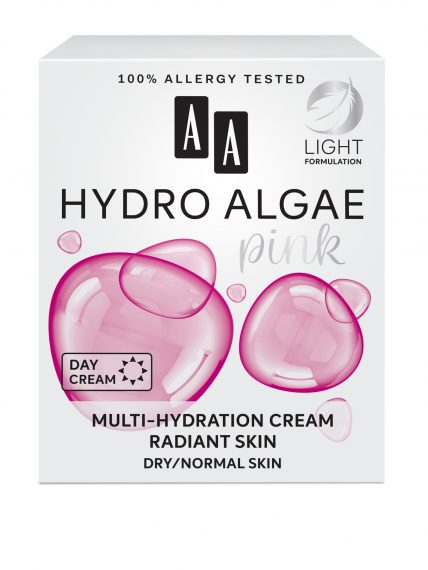 AA Hydro Algae Pink  Multi-hydration cream,  radiant skin, dry/normal skin
