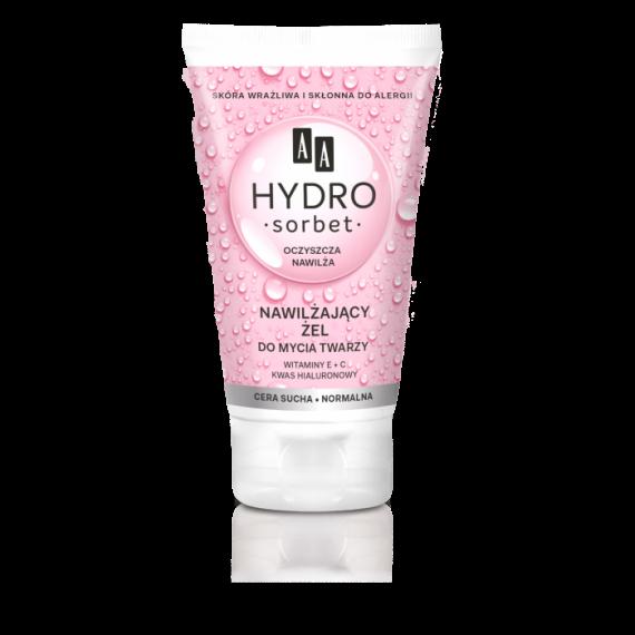 AA HYDRO SORBET Nawilżający żel do mycia twarzy cera sucha/normalna, 150 ml