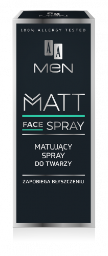 AA MEN Spray matujący do twarzy, 50 ml