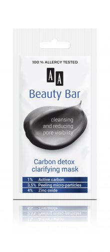 AA Beauty Bar  carbon detox clarifying mask, 8 ml