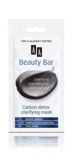 AA Beauty Bar  carbon detox clarifying mask, 8 ml