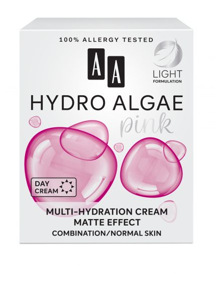 AA Hydro Algae Pink Multi-hydration cream, matte effect, combination/normal skin