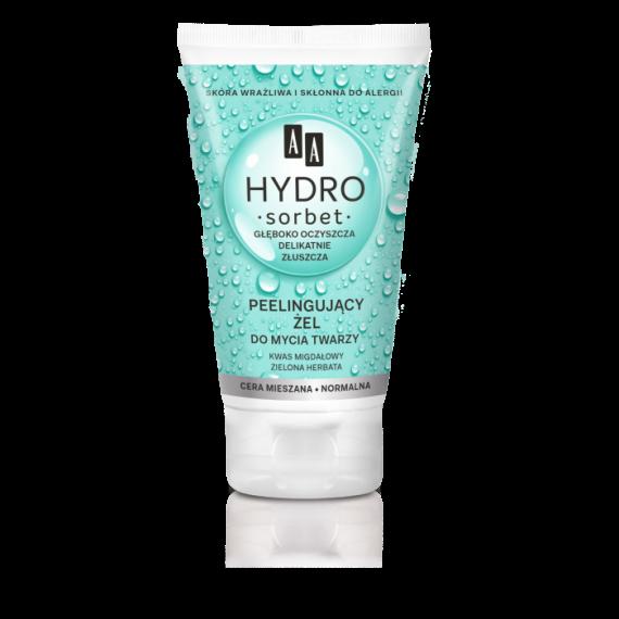 AA HYDRO SORBET Peelingujący żel do mycia twarzy cera normalna/mieszana, 150 ml