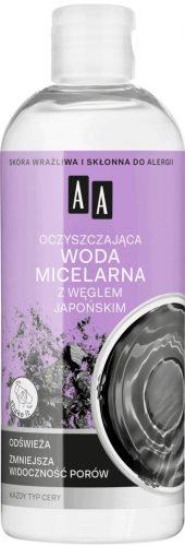 AA SKIN FOOD Oczyszczająca woda micelarna z węglem japońskim, 400ml