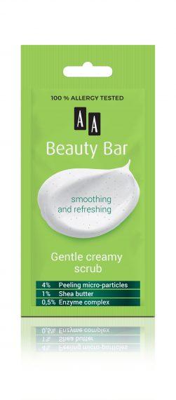AA Beauty Bar  gentle creamy scrub, 8 ml