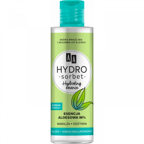 AA HYDRO SORBET KOREAN FORMULA Hydrating essence – esencja aloesowa 96%, 100 ml