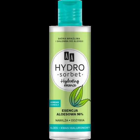 AA HYDRO SORBET KOREAN FORMULA Hydrating essence – esencja aloesowa 96%, 100 ml