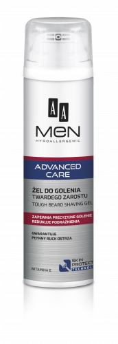AA MEN ADVANCED CARE Tough beard shaving gel