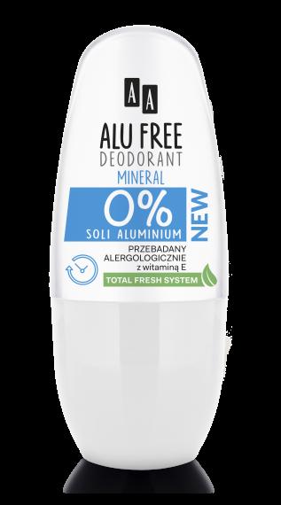 AA ALU FREE DEODORANT Mineral, aluminium salt-free, 50 ml