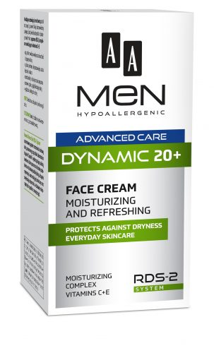 AA MEN ADVANCED CARE DYNAMIC 20+ Face cream Moisturizing and refreshing