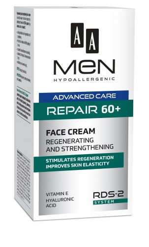 AA MEN ADVANCED CARE Repair 60+ Face cream Regenerating and strengthening