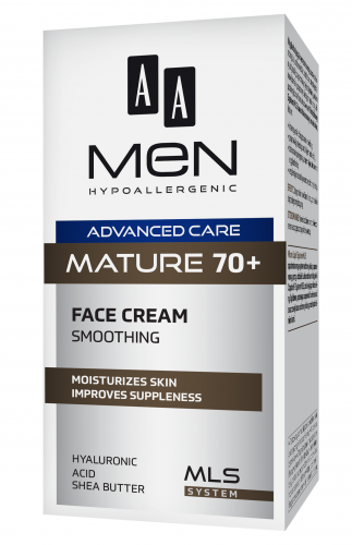 AA MEN ADVANCED CARE MATURE 70+ Krem do twarzy wygładzający, 50 ml