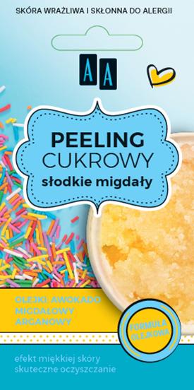 AA SUGAR SCRAB peeling cukrowy olejkowy Słodkie Migdały 8 ml