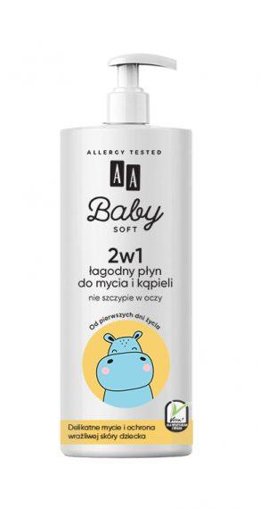 AA Baby Soft 2w1 Łagodny Płyn do mycia i kąpieli 500ml