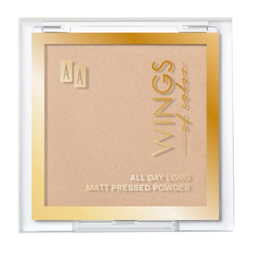 AA WINGS OF COLOR All Day Long Matt Pressed Powder Matujący Puder Prasowany 03 Natural 7g