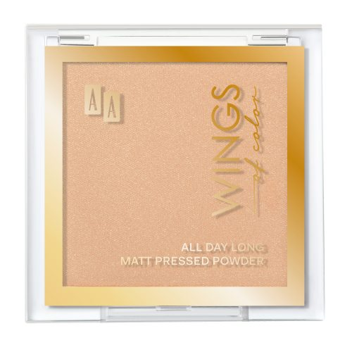 AA WINGS OF COLOR All Day Long Matt Pressed Powder Matujący Puder Prasowany 04 Satin 7g