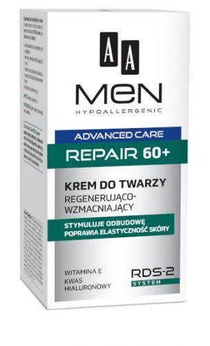 AA MEN ADVANCED CARE REPAIR 60+ Krem do twarzy regenerująco-wzmacniający, 50 ml
