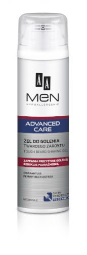 AA MEN ADVANCED CARE Żel do golenia twardego zarostu, 200 ml