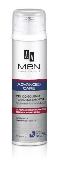 AA MEN ADVANCED CARE Żel do golenia twardego zarostu, 200 ml