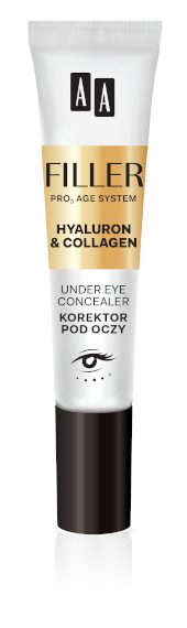 AA FILLER Under Eye Concealer Korektor Pod Oczy, 10 ml, Nr Ref. 62143