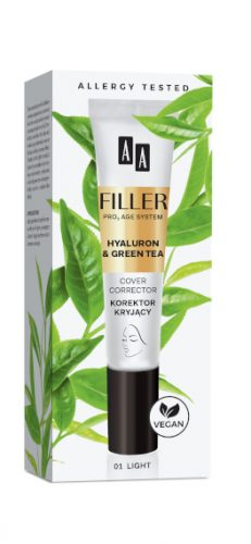 AA FILLER Cover Corrector Korektor Kryjący 01 Light, 10 ml