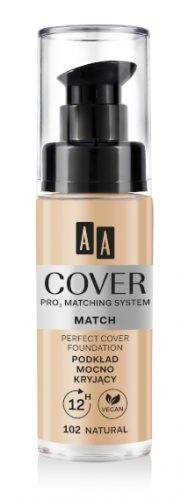 AA COVER PRO MATCHING SYSTEM MATCH podkład mocno kryjący 102 natural 30ml
