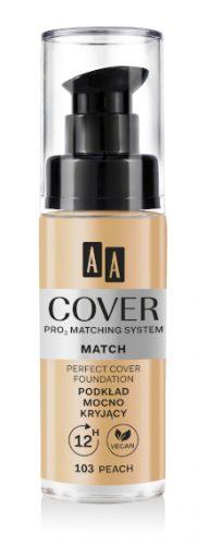 AA COVER PRO MATCHING SYSTEM MATCH Podkład mocno kryjący 103 peach 30ml