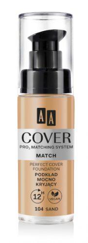 AA COVER PRO MATCHING SYSTEM MATCH podkład mocno kryjący 104 sand 30ml