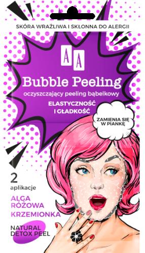 AA BUBBLE PEELING Bąbelkowy peeling Elastyczność+gładkość, 8ml