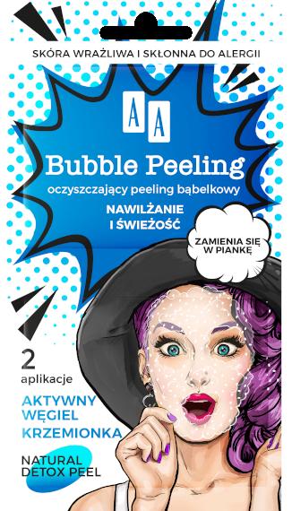 AA BUBBLE PEELING Bąbelkowy peeling Nawilżanie+świeżość, 8ml