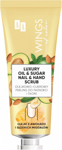 AA WINGS OF COLOR LUXURY OIL&SUGAR NAIL&HAND SCRUB – PEELING DO PAZNOKCI I DŁONI 30 ML