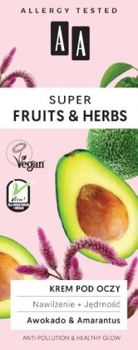 AA SUPER FRUITS&HERBS krem pod oczy nawilżenie+jędrność 15ml