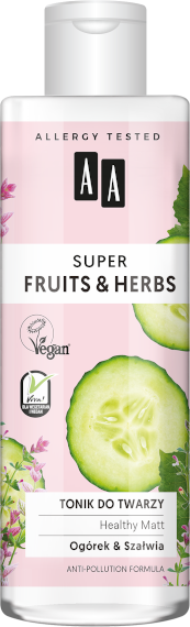 AA SUPER FRUITS&HERBS tonik do twarzy healthy matt 200ml