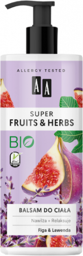 AA SUPER FRUITS&HERBS balsam do ciała figa&lawenda 500ml