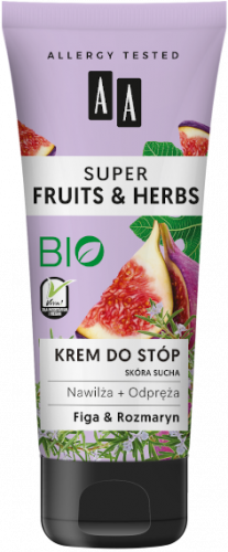AA SUPER FRUITS&HERBS krem do stóp rozmaryn&figa 75ml