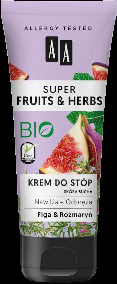 AA SUPER FRUITS&HERBS krem do stóp rozmaryn&figa 75ml
