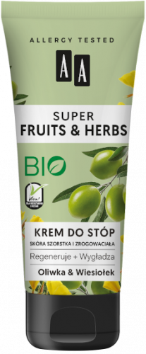 AA SUPER FRUITS&HERBS krem do stóp oliwka&wiesiołek 75ml