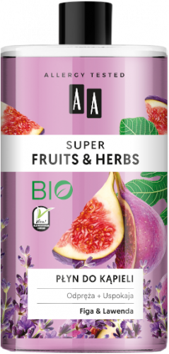 AA SUPER FRUITS&HERBS płyn do kąpieli figa&lawenda 750ml