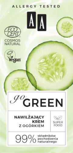 AA GO GREEN nawilżający krem z ogórkiem NATURAL 50 ml