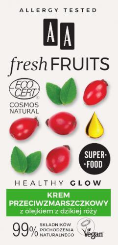 AA FRESH FRUITS krem przeciwzmarszczkowy z olejkiem z dzikiej róży NATURAL 50 ml