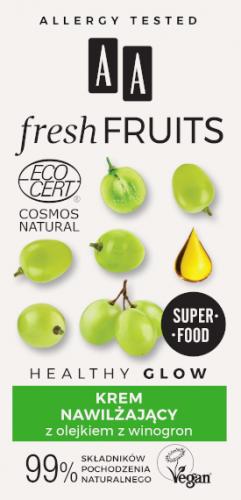 AA FRESH FRUITS krem nawilżający z olejkiem z winogron NATURAL 50 ml