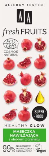 AA FRESH FRUITS maseczka nawilżająca z olejkiem z granatu NATURAL 40 ml
