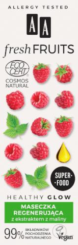 AA FRESH FRUITS maseczka regenerująca z ekstraktem z maliny NATURAL 40 ml